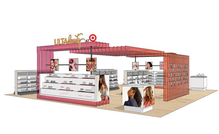 A mock-up of an Ulta-at-Target store.