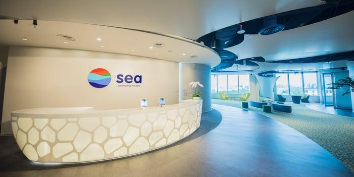 Lobby at Sea headquarters