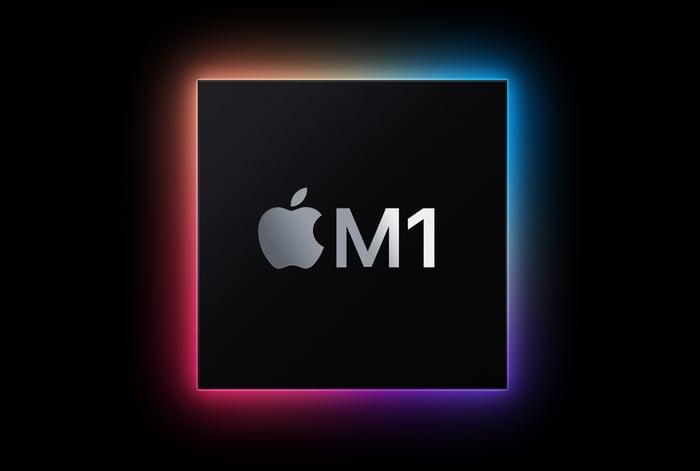 M1 chip exterior.