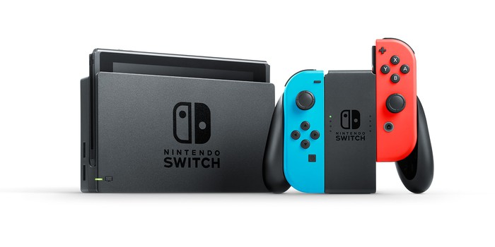 Nintendo's Switch console and game controller.