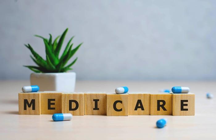 "Wooden blocks spelling out ""Medicare"""