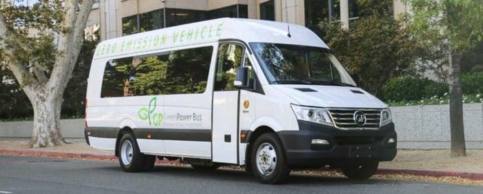 GreenPower Motor EV Star electric microbus.