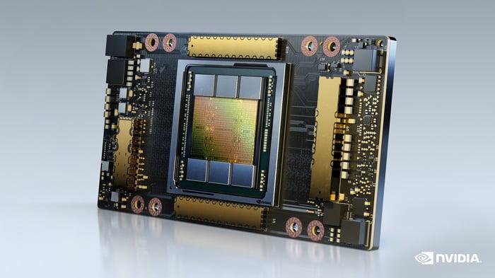 NVIDIA A100 80GB graphics processing unit.