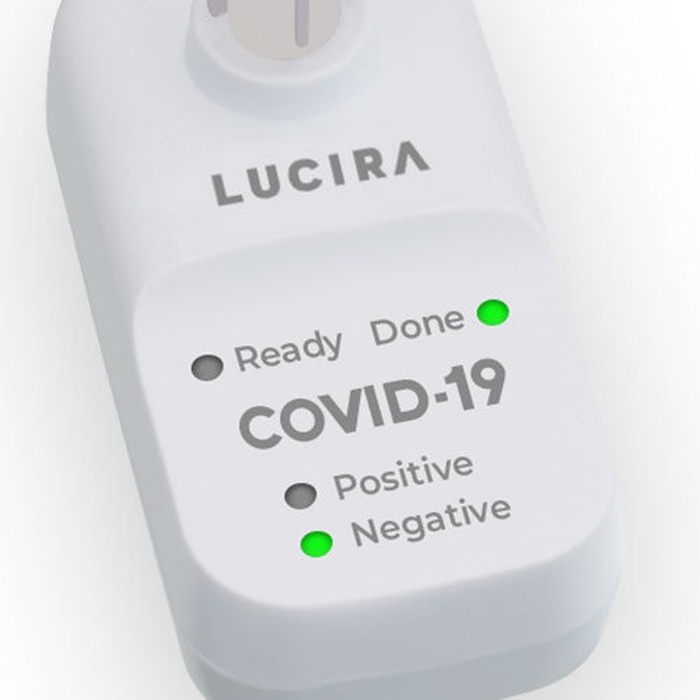Base unit of the Lucira COVID-19 All-In-One Test Kit.
