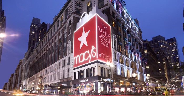 Macy's Herald Square store in Manhattan in the early evening.