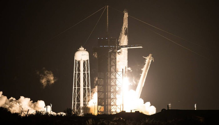 SpaceX Crew 1 at liftoff on Nov. 15, 2020.