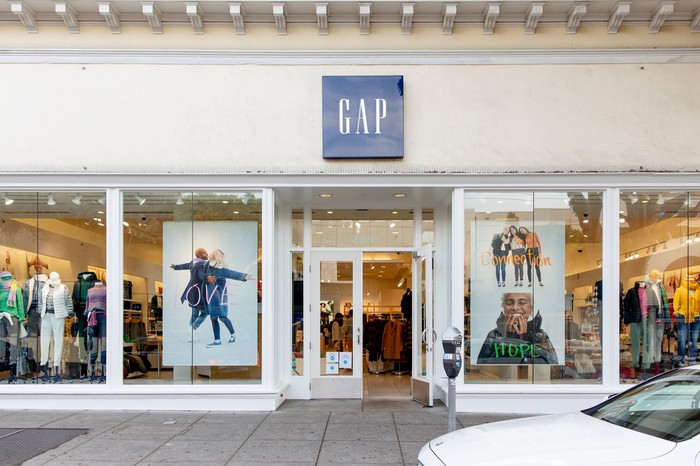 The front of a Gap store