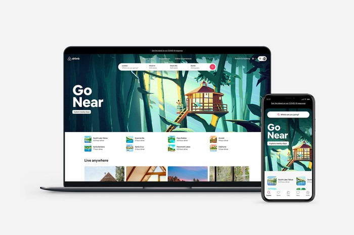 Airbnb's PC and mobile app.