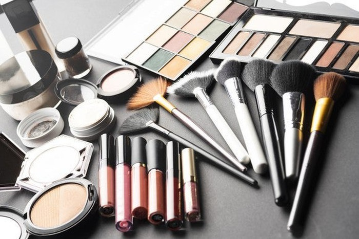 Makeup products.