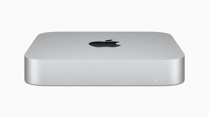 An Apple Mac Mini.