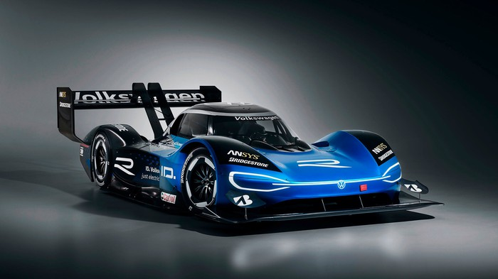 The Volkswagen ID.R electric race car.