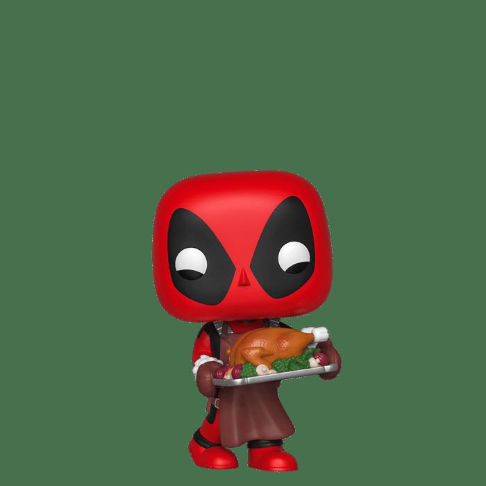 Funko Deadpool Pop toy.
