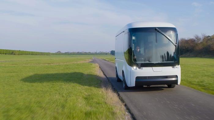 Arrival electric van on rural road