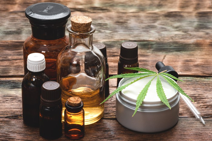 Natural wellness products infused with CBD.