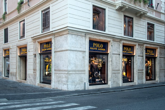 The Ralph Lauren Polo store in Rome, Italy.