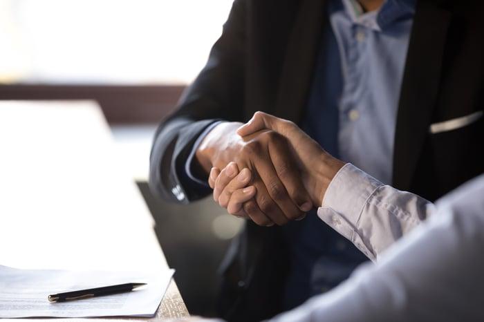 A handshake
