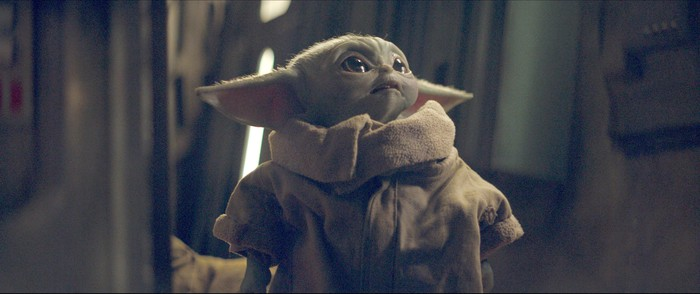 Baby Yoda character from The Mandalorian Star Wars series