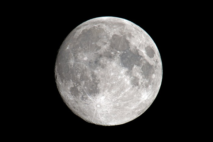 Full moon against a black background