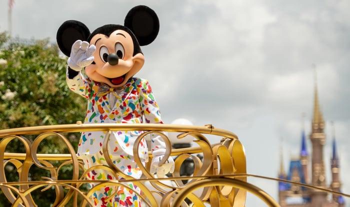 Mickey Mouse at Walt Disney World in Lake Buena Vista, Fla.
