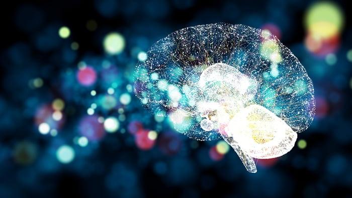 An illustration of a digital brain.