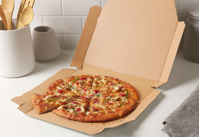 Domino's chicken taco pizza.