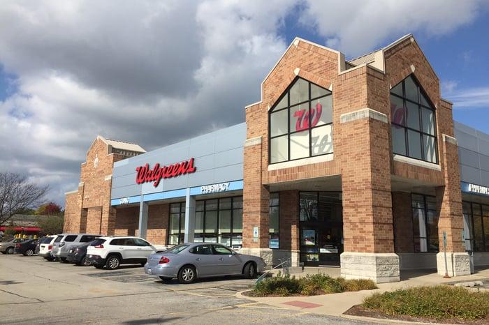 Exterior of a Walgreens pharmacy.