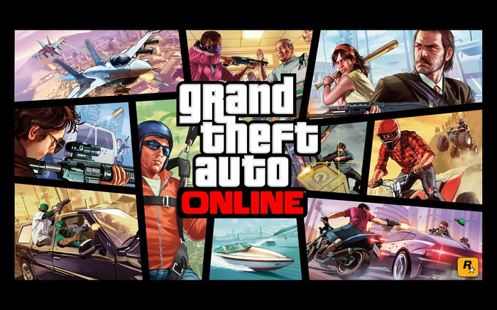 Game art for Grand Theft Auto Online.