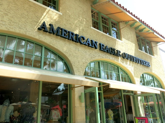 The front of an American Eagle store