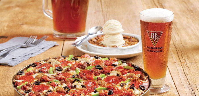 A pizza and beer from BJ's.