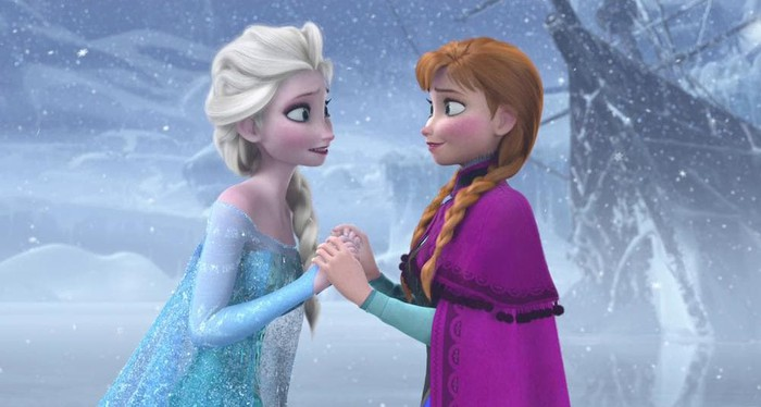 "Elsa and Anna from Disney's ""Frozen"""