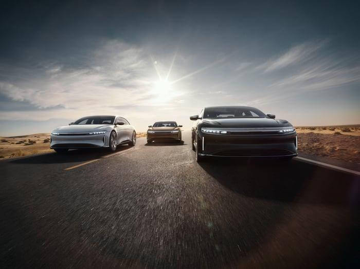 Lucid Air electric luxury sedans