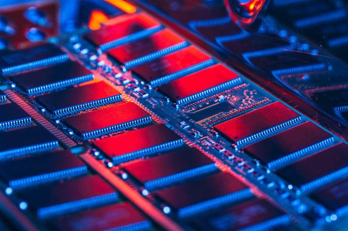 DRAM chips.