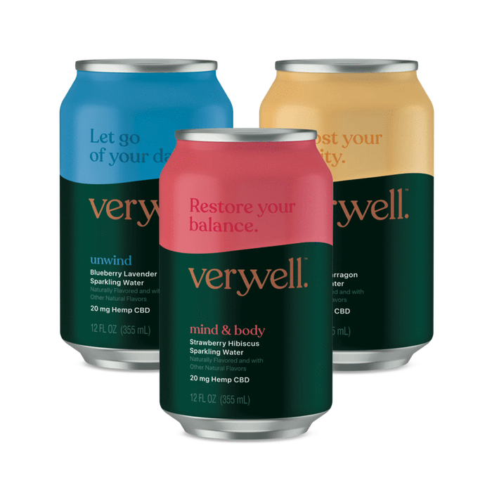 Cans of Truss CBD's Veryvell beverages