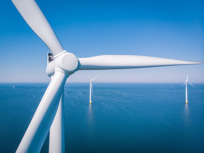 Wind turbines offshore