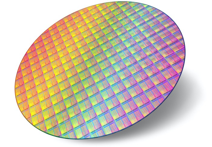 A silicon wafer