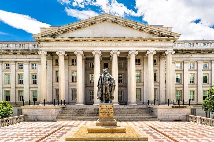 U.S. Treasury building in Washington.