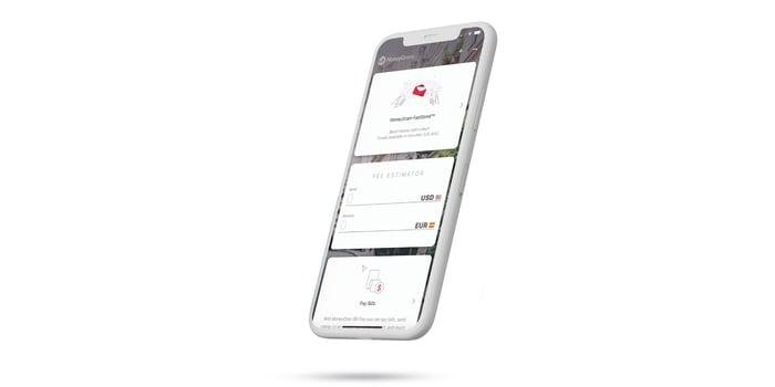 MoneyGram app on a phone
