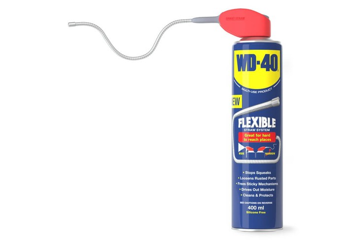 A can of WD-40 with a flexible straw.