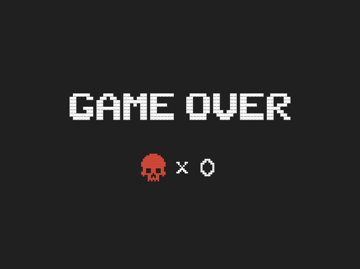 A game over screen.