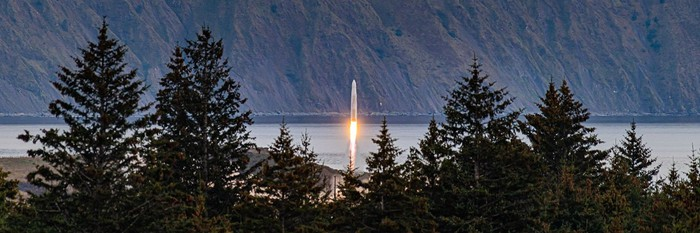Astra rocket launching from Kodiak, Alaska.