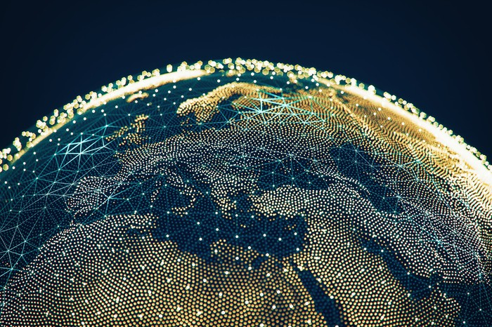 Globe with interconnected networks