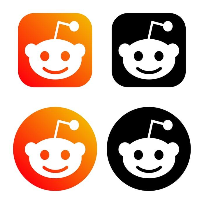 The Reddit logo in orange and black.