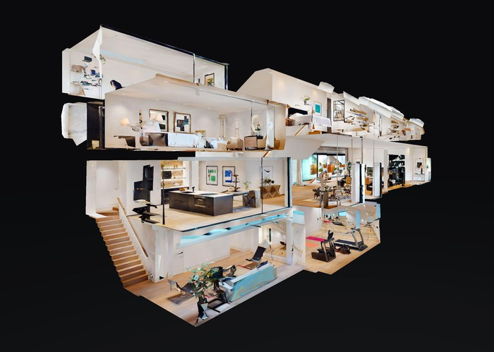 Doll house view made by Matterport.