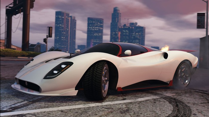 A sports car in Take-Two's 'Grand Theft Auto V.'