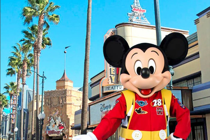 Mickey Mouse at Disney theme park