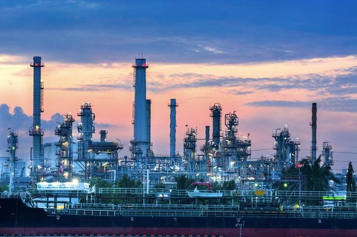 A refining plant.