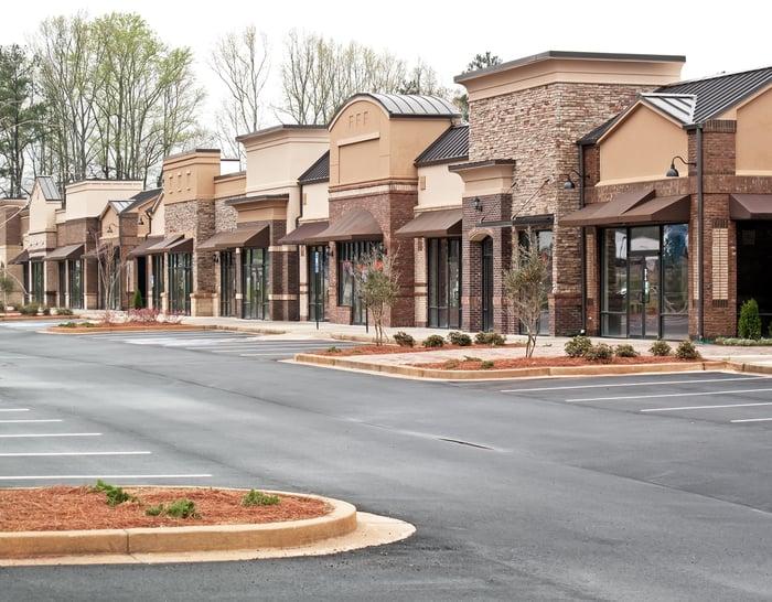 Outdoor shopping center.
