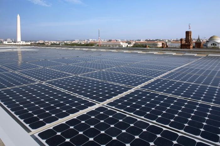 Commercial solar installation in Washington DC area.