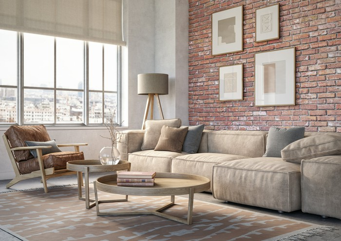 A designer living room.
