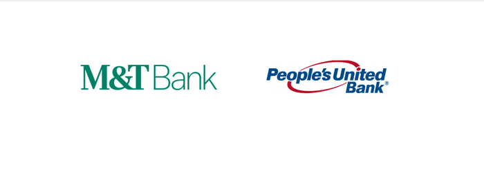 Picture of M&T Bank and People's United's logos.